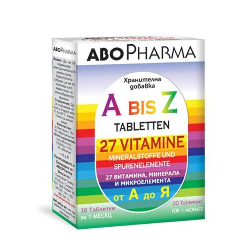 A-Z - 27 vitamins, minerals and trace elements