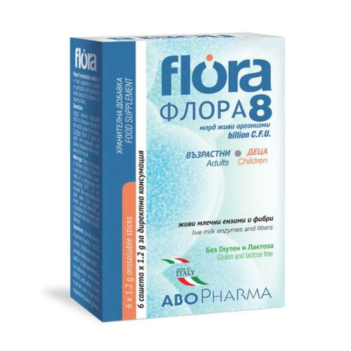 Flora 8 for children and adults x6 sachets