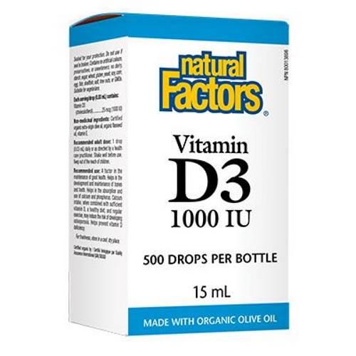 Vitamin D3 drops 1000IU x15ml