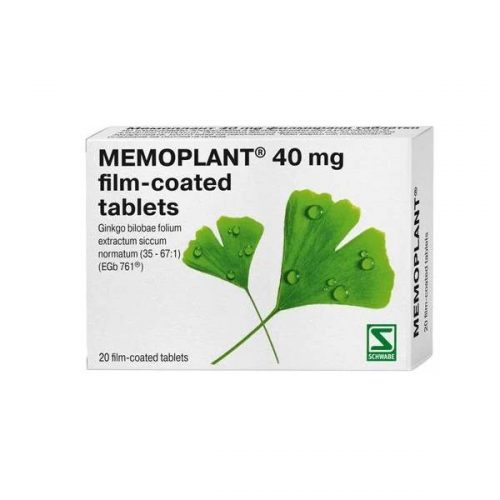 Memoplant for memory and dew 40 mg x20 tablets