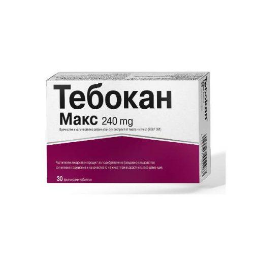 Tebokan Max improves memory and circulation 240mg x30