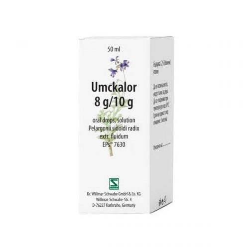 Umcalor oral drops for acute respiratory infections x20 ml