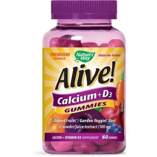 Alive Calcium + Vitamin D3 x60 jelly tablets