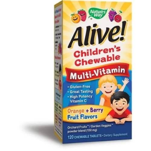 Alive Multivitamins For Children x120 Chewable Tablets