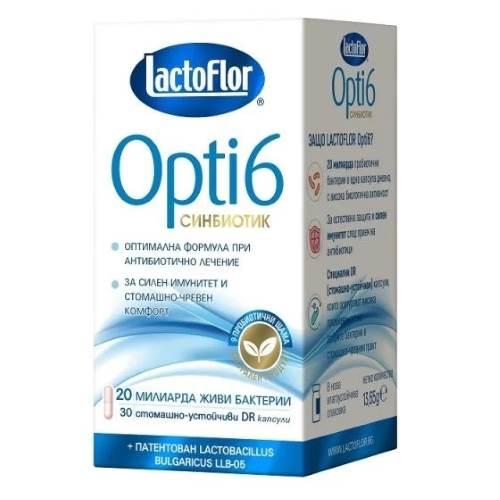 LACTOFLOR OPTI 6 Synbiotics x30 caps