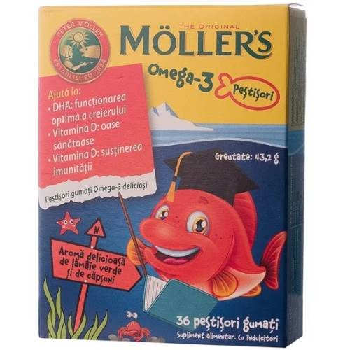 OMEGA-3 Jelly fish With Strawberry Flavor x36 pcs.