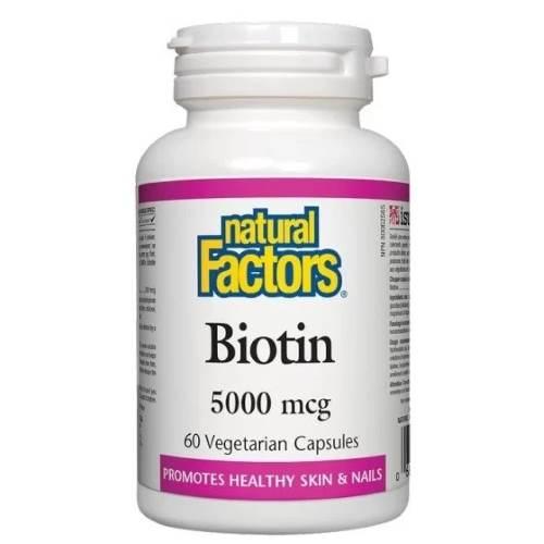 Biotin 5000 mcg x 60 V capsules