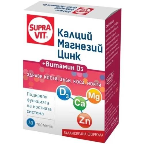 SUPRAVIT Calcium, Magnesium, Zinc And Vitamin D3 x30 tabs
