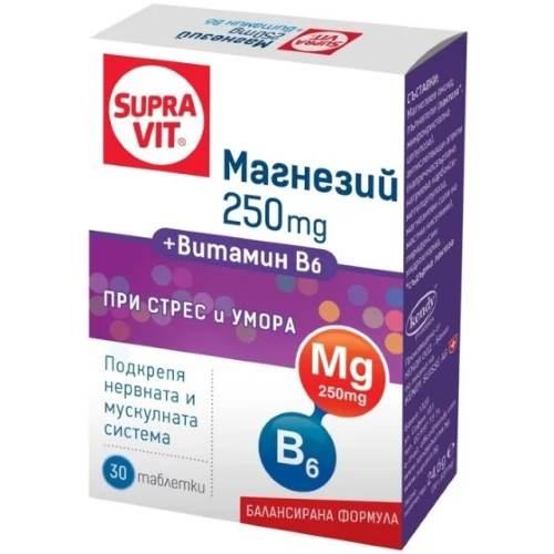 SUPRAVIT Magnesium + Vitamin B6 x30 tabs