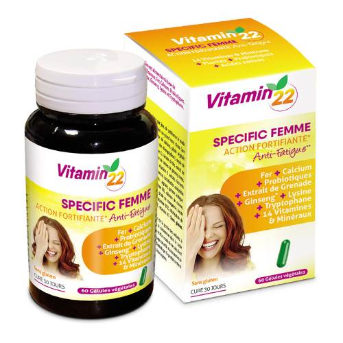 VITAMIN'22 -To Reduce Fatigue For Women x60caps
